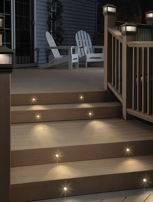 Recessed Lighting For Outdoor Steps : Led step lights for indoors outdoors underwater