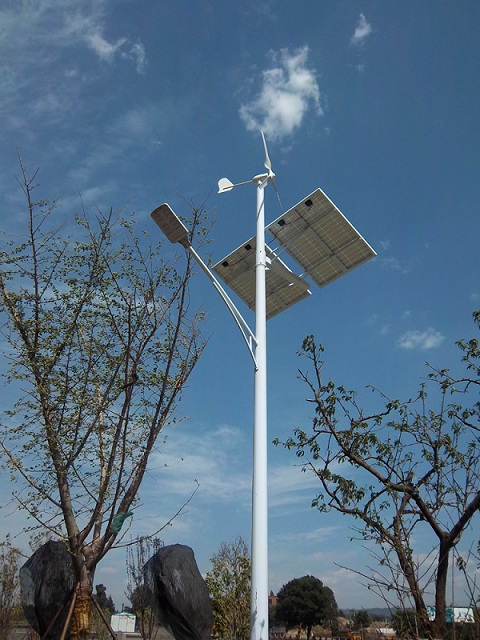 Combined Wind and Sun Solar Power Hybrid LED Street Lighting
