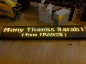 TQ-P10-32x128-R    Semi-outdoor LED Moving Message Window Sign