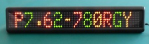 TQ-IN762-16x64-RG   LED Indoor and Semi-Outdoor Moving Message Sign