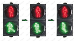 TQ-SRX 300-3-D1A LED Dynamic Pedestrian Traffic Light