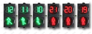 SRX 300-3-D2A LED Dynamic Pedestrian Traffic Light with Countdown Timer