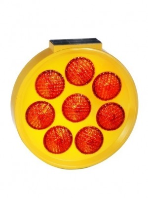 TQ-T238-AS  LED Solar Eight Rounded Flash Warning Light  (Round Shape)