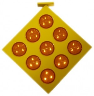TQ-T318-AS  LED Solar Nine Rounded Flash Warning Light