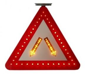 TQ-T418-AS  LED Solar Triangle Flash Warning Light