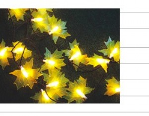 TQ-SD-FY-100 LED TREE MAPLE LEAF STRING LIGHTS 100 Bulbs