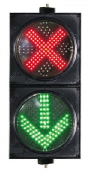 TQ-SCD 300-3-2 LED Driveway Signal Light with Red Cross and Green Arrow