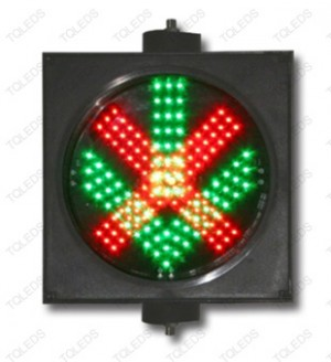 TQ-SCD 300-3-2IN1 LED Driveway Signal Light with Red Cross & Green Arrow