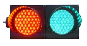 TQ-SJD (1/1W) 200-3-2-RG  LED Traffic Light Red and Green