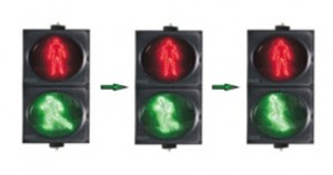 TQ-SRX 200-3-D1A LED Dynamic Pedestrian Traffic Light