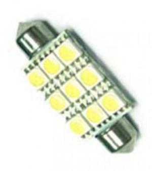 TQ-T10-39mm-9SMD5050-W LED Festoon Dome Light Bulb