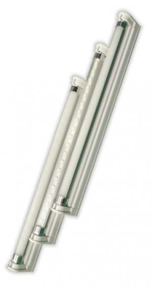 TQ-T5-S600-6W  LED T5 Tube Light Clear Lens Pure White (2 Feet)